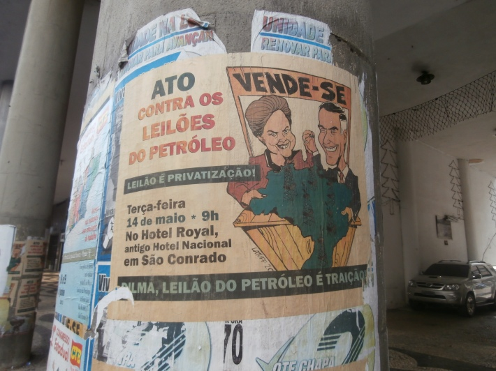 The victory of the current president Dilma Rousseff was due, in part, to her perceived competence as an energy minister from 2003 to 2005. In response to last month's protests, she helped usher a bill through Congress allowing for oil royalties to be fully dedicated to education and healthcare.