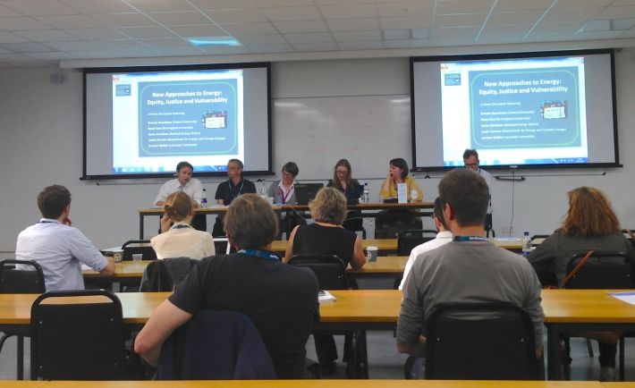 Panelists in the second part of the session on 'New Approaches to Energy: Equity, Justice and Vulnerability'