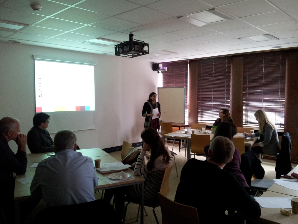 Participants at the workshop. Photo by Jenni Cauvain