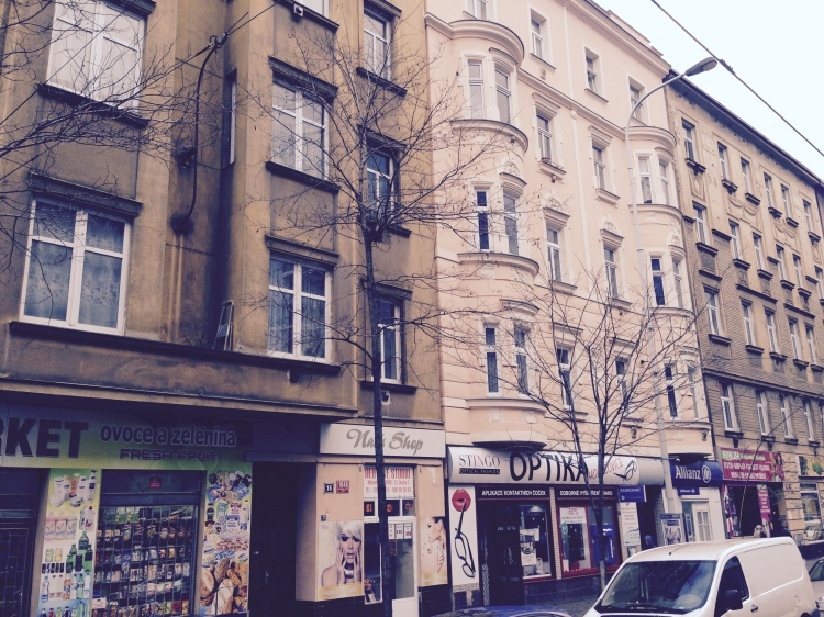 A street in the Prague 7 district. By Saska Petrova.
