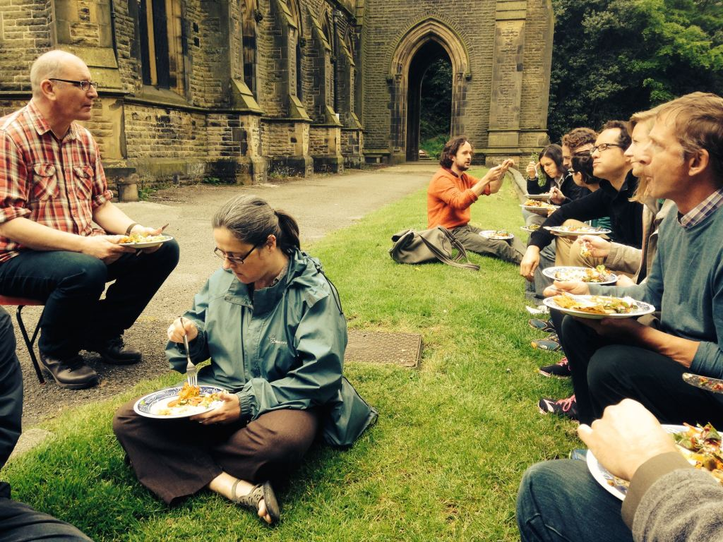 Visiting the Incredible Edible initiative in Todmorden (photo by Saska Petrova).