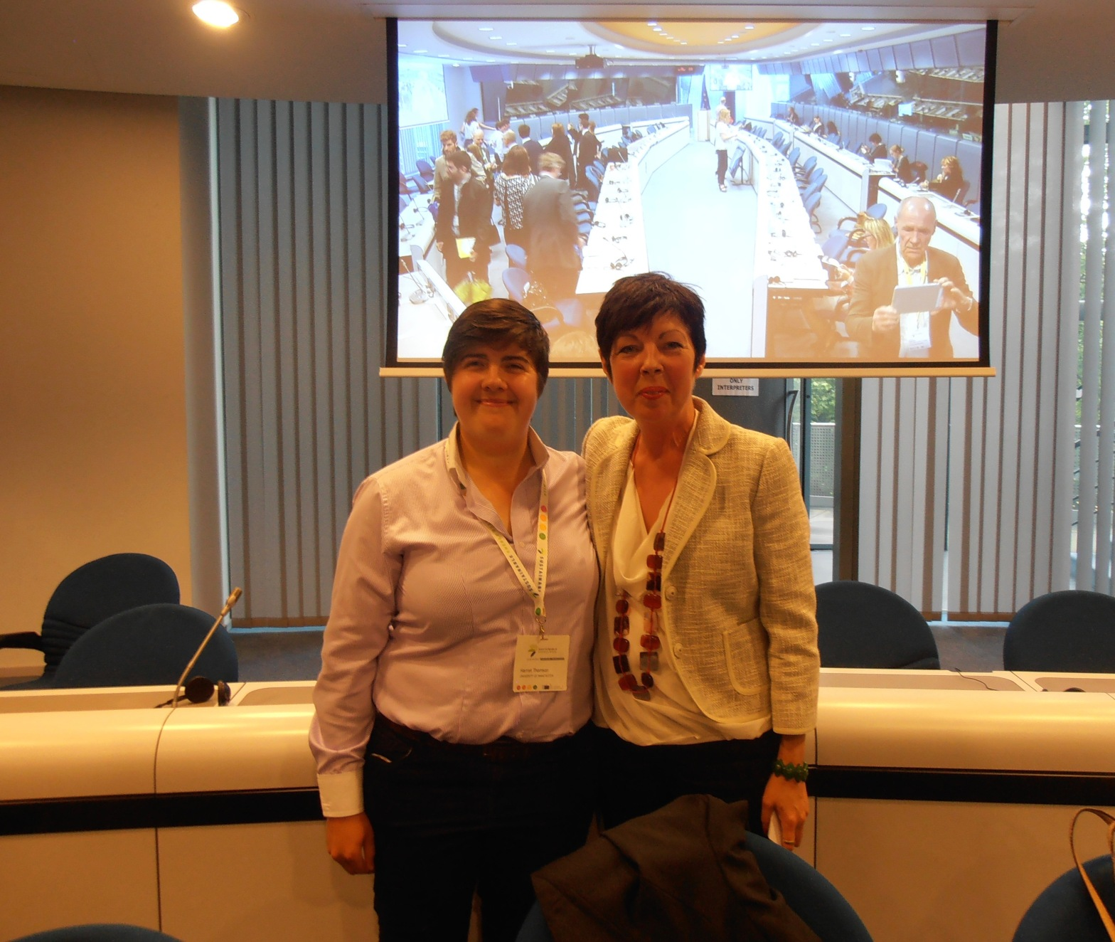 Harriet Thomson with Theresa Griffin MEP at the EUSEW event