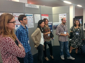 A selection of the ECRs by their posters at NEA's conference. Photo by Sergio Tirado Herrero @stiradoherrero